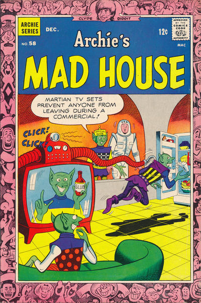 Cover for Archie's Madhouse (Archie, 1959 series) #58