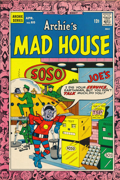 Cover for Archie's Madhouse (Archie, 1959 series) #60
