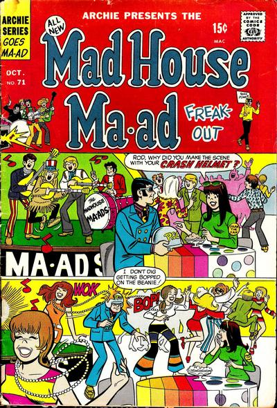 Cover for Mad House Ma-ad Freak-Out (Archie, 1969 series) #71