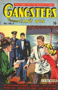 Cover Thumbnail for Gangsters Can't Win (D.S. Publishing, 1948 series) #v1#5