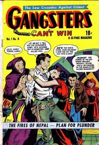 Cover Thumbnail for Gangsters Can't Win (D.S. Publishing, 1948 series) #v1#8