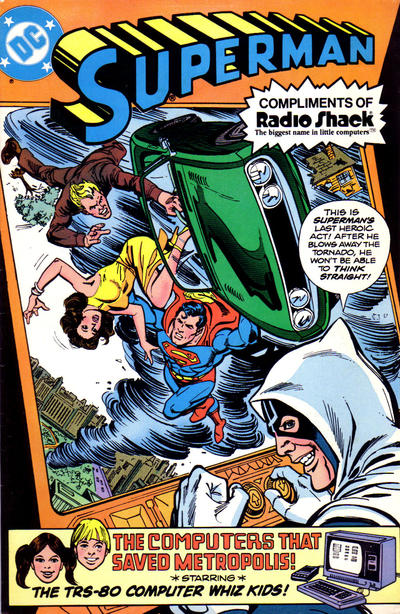 "Cover for Superman in ""The Computers That Saved Metropolis"" (DC, 1980 series)"