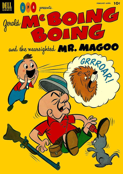 Cover for Gerald McBoing Boing and the Nearsighted Mr. Magoo (Dell, 1952 series) #3