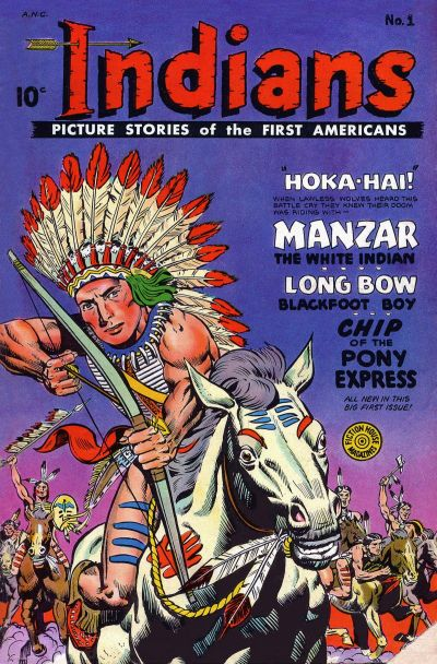 Cover for Indians (Fiction House, 1950 series) #1