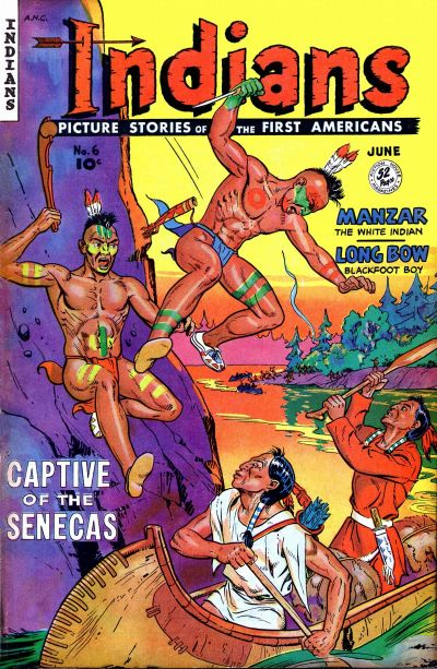 Cover for Indians (Fiction House, 1950 series) #6