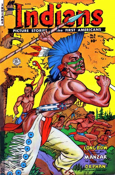 Cover for Indians (Fiction House, 1950 series) #8