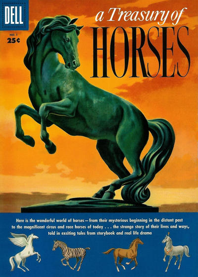 Cover for A Treasury of Horses (Dell, 1955 series) #1
