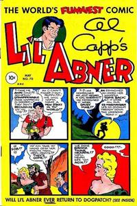 Cover for Al Capp's Li'l Abner (Toby, 1949 series) #70