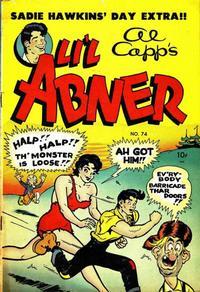 Cover Thumbnail for Al Capp's Li'l Abner (Toby, 1949 series) #74