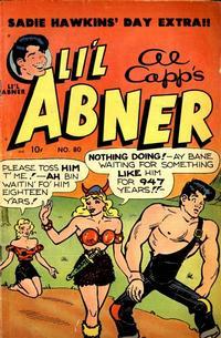 Cover Thumbnail for Al Capp's Li'l Abner (Toby, 1949 series) #80