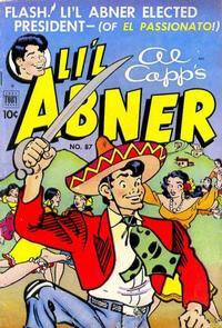 Cover Thumbnail for Al Capp's Li'l Abner (Toby, 1949 series) #87