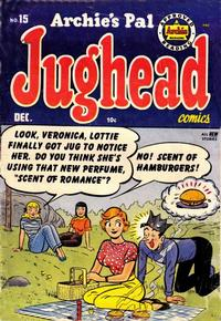 Cover Thumbnail for Archie's Pal Jughead (Archie, 1949 series) #15