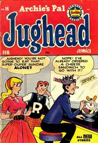 Cover Thumbnail for Archie's Pal Jughead (Archie, 1949 series) #16