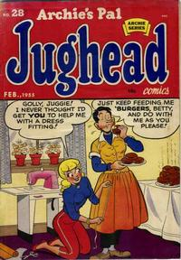 Cover for Archie's Pal Jughead (Archie, 1949 series) #28