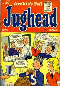 Cover Thumbnail for Archie's Pal Jughead (Archie, 1949 series) #30