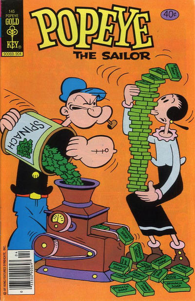 Cover for Popeye the Sailor (Western, 1978 series) #145 [Gold Key]