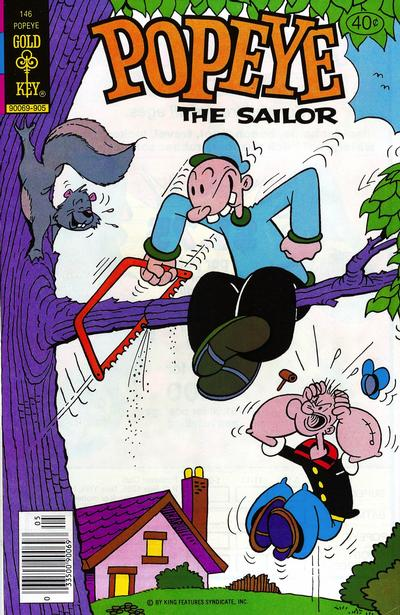 Cover for Popeye the Sailor (Western, 1978 series) #146 [Whitman]