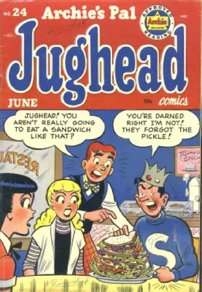 Cover for Archie's Pal Jughead (Archie, 1949 series) #24