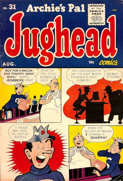 Cover for Archie's Pal Jughead (Archie, 1949 series) #31