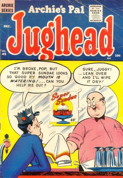Cover for Archie's Pal Jughead (Archie, 1949 series) #45