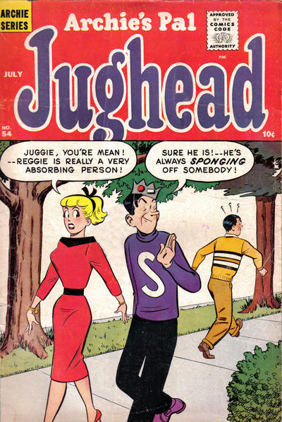 Cover for Archie's Pal Jughead (Archie, 1949 series) #54