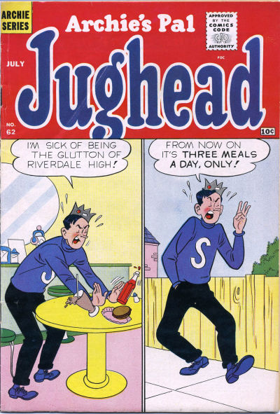 Cover for Archie's Pal Jughead (Archie, 1949 series) #62