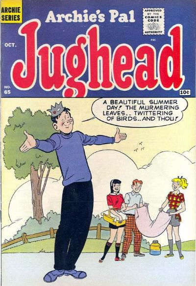 Cover for Archie's Pal Jughead (Archie, 1949 series) #65