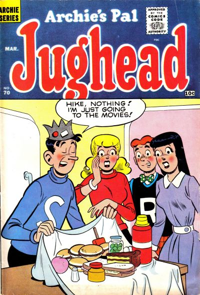 Cover for Archie's Pal Jughead (Archie, 1949 series) #70