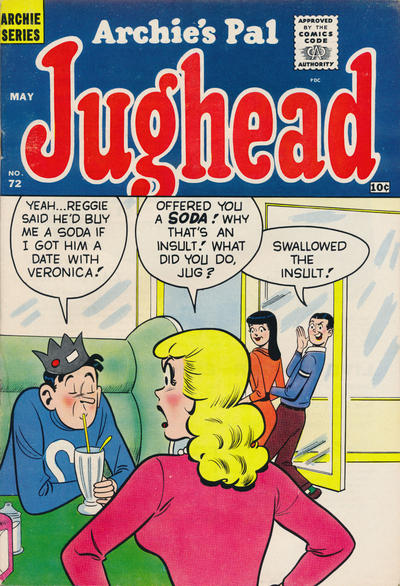 Cover for Archie's Pal Jughead (Archie, 1949 series) #72