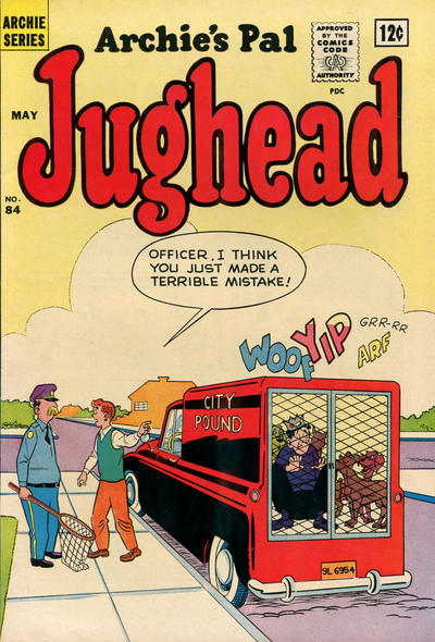 Cover for Archie's Pal Jughead (Archie, 1949 series) #84