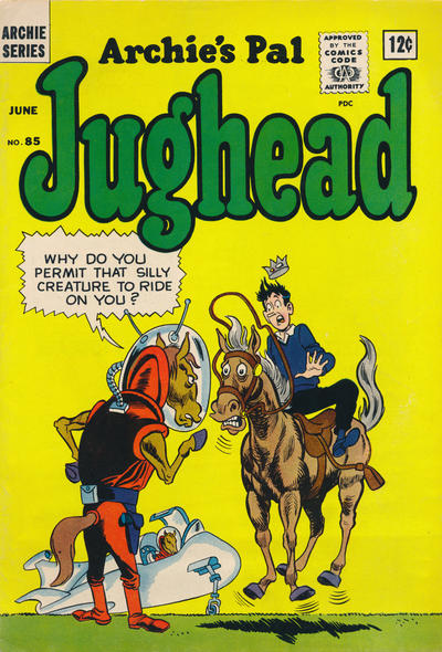Cover for Archie's Pal Jughead (Archie, 1949 series) #85