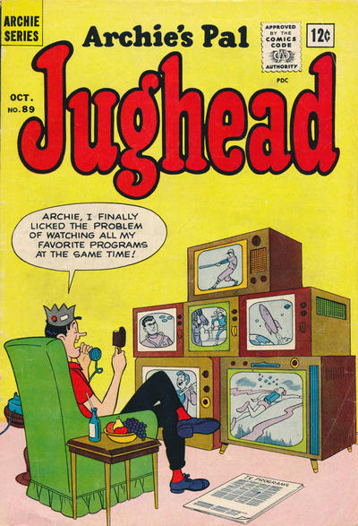 Cover for Archie's Pal Jughead (Archie, 1949 series) #89
