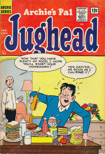 Cover for Archie's Pal Jughead (Archie, 1949 series) #92