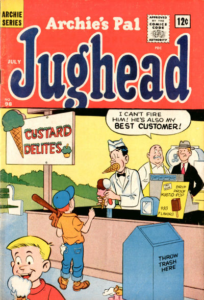Cover for Archie's Pal Jughead (Archie, 1949 series) #98
