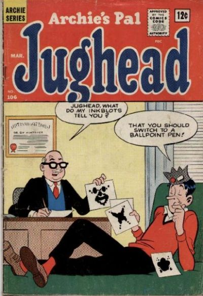 Cover for Archie's Pal Jughead (Archie, 1949 series) #106
