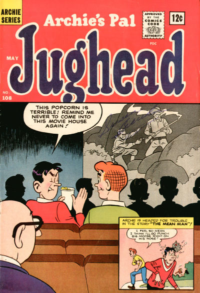 Cover for Archie's Pal Jughead (Archie, 1949 series) #108