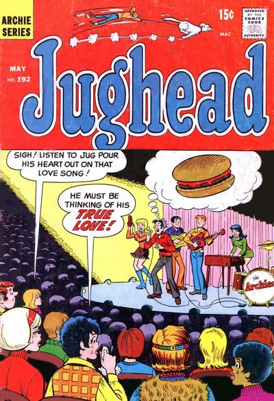 Cover for Jughead (Archie, 1965 series) #192