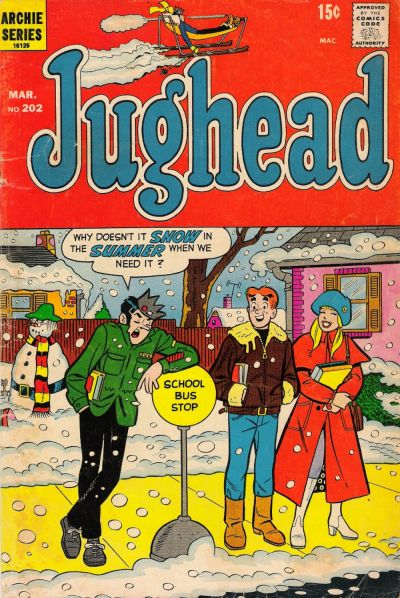 Cover for Jughead (Archie, 1965 series) #202
