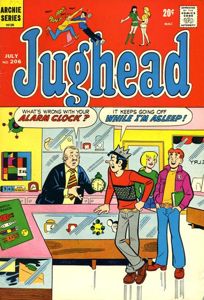 Cover for Jughead (Archie, 1965 series) #206