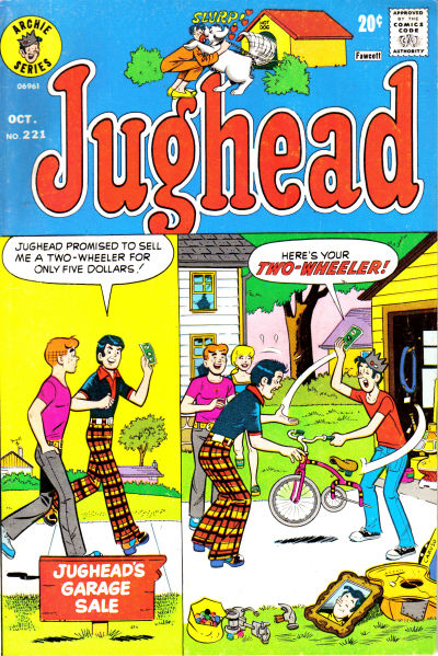Cover for Jughead (Archie, 1965 series) #221