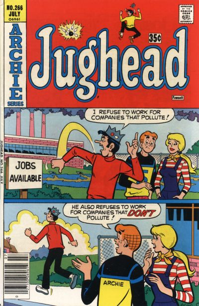 Cover for Jughead (Archie, 1965 series) #266