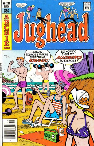 Cover for Jughead (Archie, 1965 series) #281