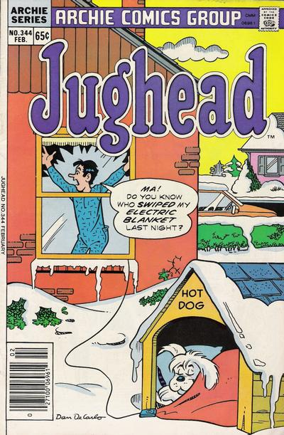Cover for Jughead (Archie, 1965 series) #344
