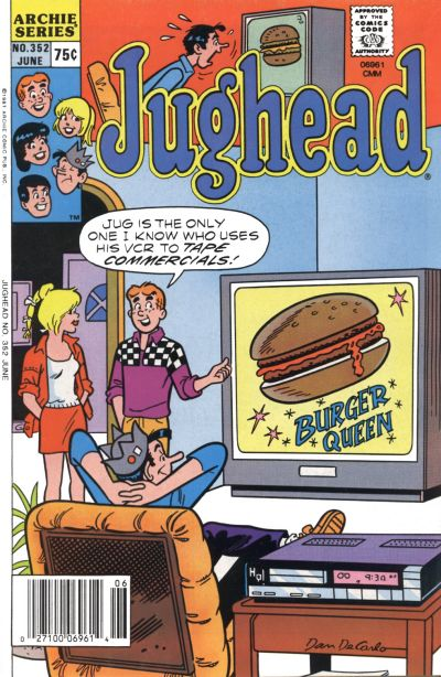 Cover for Jughead (Archie, 1965 series) #352