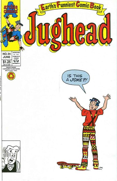 Cover for Jughead (Archie, 1987 series) #34