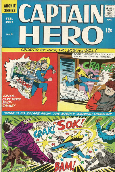 Cover for Jughead as Captain Hero (Archie, 1966 series) #3