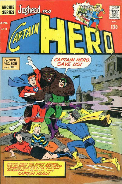 Cover for Jughead as Captain Hero (Archie, 1966 series) #4
