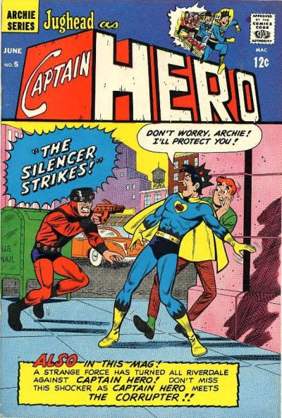 Cover for Jughead as Captain Hero (Archie, 1966 series) #5