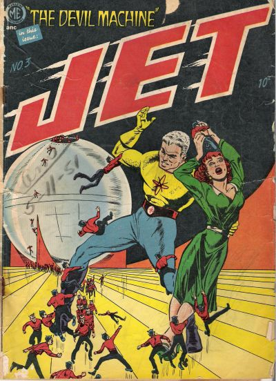 Cover for Jet Powers (Magazine Enterprises, 1950 series) #3 [A-1 #35]