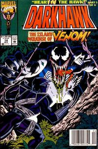 Cover Thumbnail for Darkhawk (Marvel, 1991 series) #14 [Newsstand]